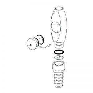 A-dec HVE Suction Parts